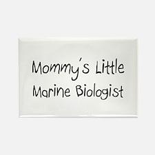 Mommy's Little Marine Biologist Rectangle Magnet