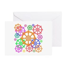 Dharma wheel Greeting Cards (Pk of 10)