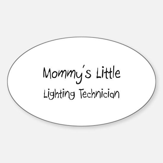 Mommy's Little Lighting Technician Oval Decal
