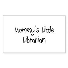 Mommy's Little Librarian Rectangle Decal