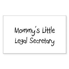 Mommy's Little Legal Secretary Rectangle Decal