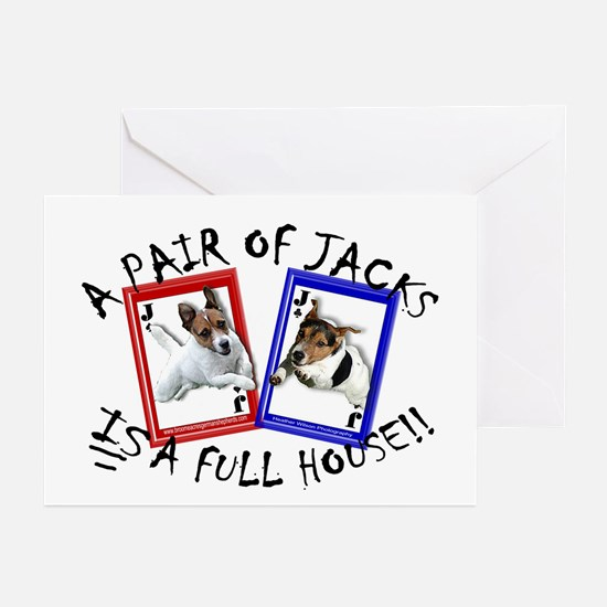 """Jack Russell """"Full House"""" Greeting Cards (Package"""