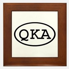 QKA Oval Framed Tile