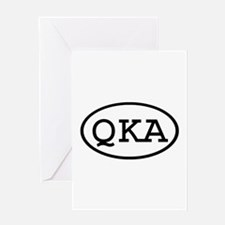 QKA Oval Greeting Card