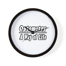 """Optometry: A Way of Life"" Wall Clock"