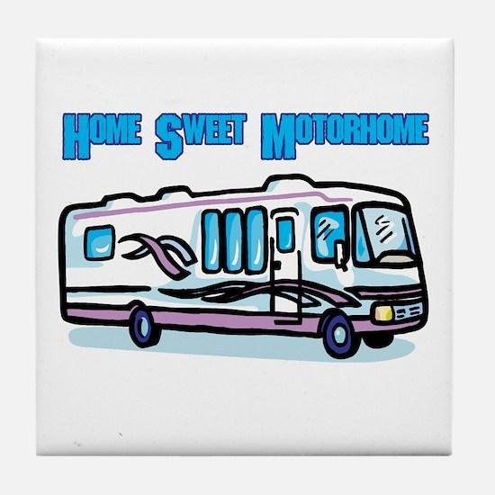 Home Sweet Motorhome Tile Coaster