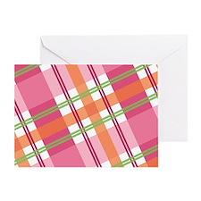 Pretty in Plaid (Blank) Greeting Card