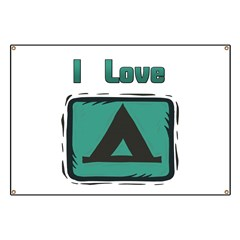 I Love Camping Banner