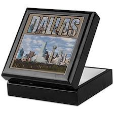 Cute Dallas skyline Keepsake Box