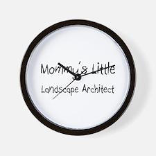 Mommy's Little Landscape Architect Wall Clock