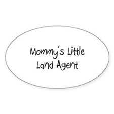 Mommy's Little Land Agent Oval Decal