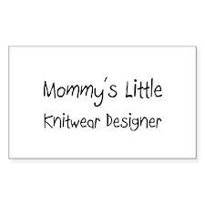 Mommy's Little Knitwear Designer Sticker (Rectangl