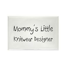 Mommy's Little Knitwear Designer Rectangle Magnet