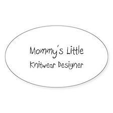 Mommy's Little Knitwear Designer Oval Sticker
