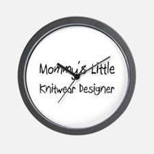 Mommy's Little Knitwear Designer Wall Clock