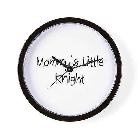 Mommy's Little Knight Wall Clock
