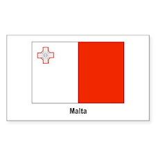 Malta Maltese Flag Rectangle Decal