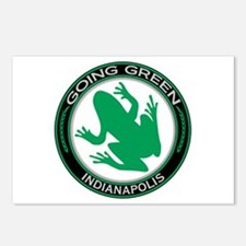 Going Green Indianapolis Frog Postcards (Package o