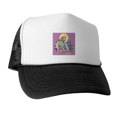 Sexy Cowgirl Riding Bronco Horse Trucker Hat