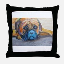Henry a Bullmastiff Throw Pillow