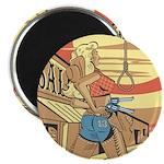 Sexy Western Cowgirl Pop Art Magnet