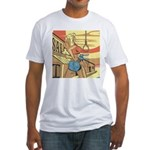 Sexy Western Cowgirl Pop Art Fitted T-Shirt