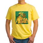 Sexy Cowboy Cowgirl Western Pop Art Yellow T-Shirt