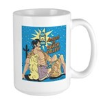 Sexy Cowboy Cowgirl Western Pop Art Large Mug