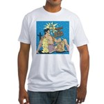 Sexy Cowboy Cowgirl Western Pop Art Fitted T-Shirt