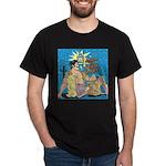 Sexy Cowboy Cowgirl Western Pop Art Dark T-Shirt