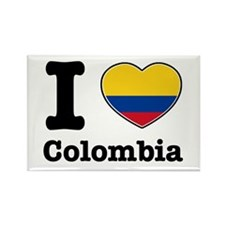 I love Colombia Rectangle Magnet