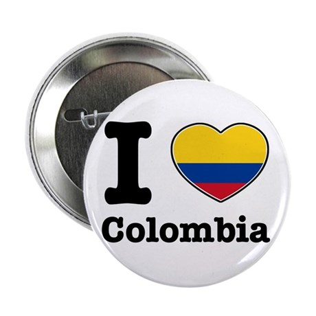 """I love Colombia 2.25"""" Button (10 pack)"""