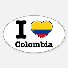 I love Colombia Oval Decal