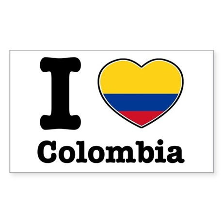 I love Colombia Rectangle Sticker