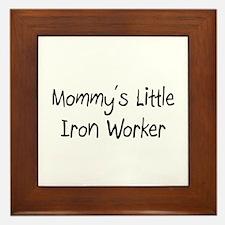 Mommy's Little Iron Worker Framed Tile