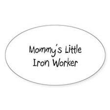 Mommy's Little Iron Worker Oval Decal