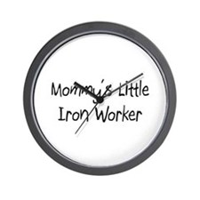 Mommy's Little Iron Worker Wall Clock