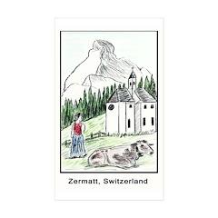 Zermatt Rectangle Sticker 10 pk)