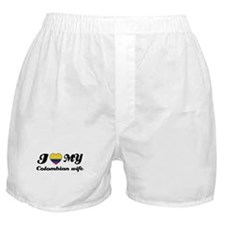 I love my Colombian Wife Boxer Shorts