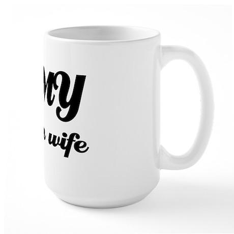 I love my Colombian Wife Large Mug