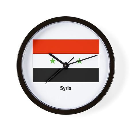 Syria Syrian Flag Wall Clock