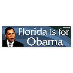 Florida is for Barack Obama bumper sticker