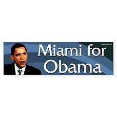 Miami for Obama bumper sticker