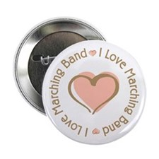 """I Love Heart Marching Band 2.25"""" Button (10 pack)"""