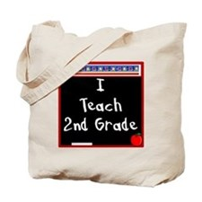 I Teach 2nd Grade Tote Bag