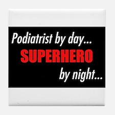 Superhero Podiatrist Tile Coaster