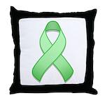 Light Green Awareness Ribbon Throw Pillow