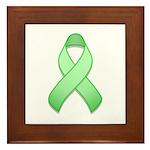 Light Green Awareness Ribbon Framed Tile
