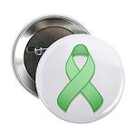"""Light Green Awareness Ribbon 2.25"""" Button (10 pack"""
