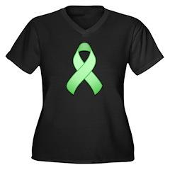 Light Green Awareness Ribbon Women's Plus Size V-N